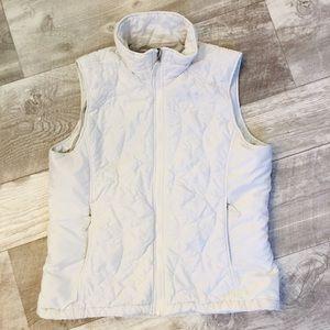 The North Face White Puffer Coat Vest Sz XL